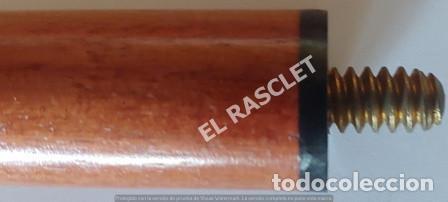 Antigüedades: ANTIGÜO Y ROBUSTO BASTON DESMONTABLE EN MADERA NOBLE CON EMPUÑADURA DE BRONCE CON BRUJULA - Foto 6 - 251636720