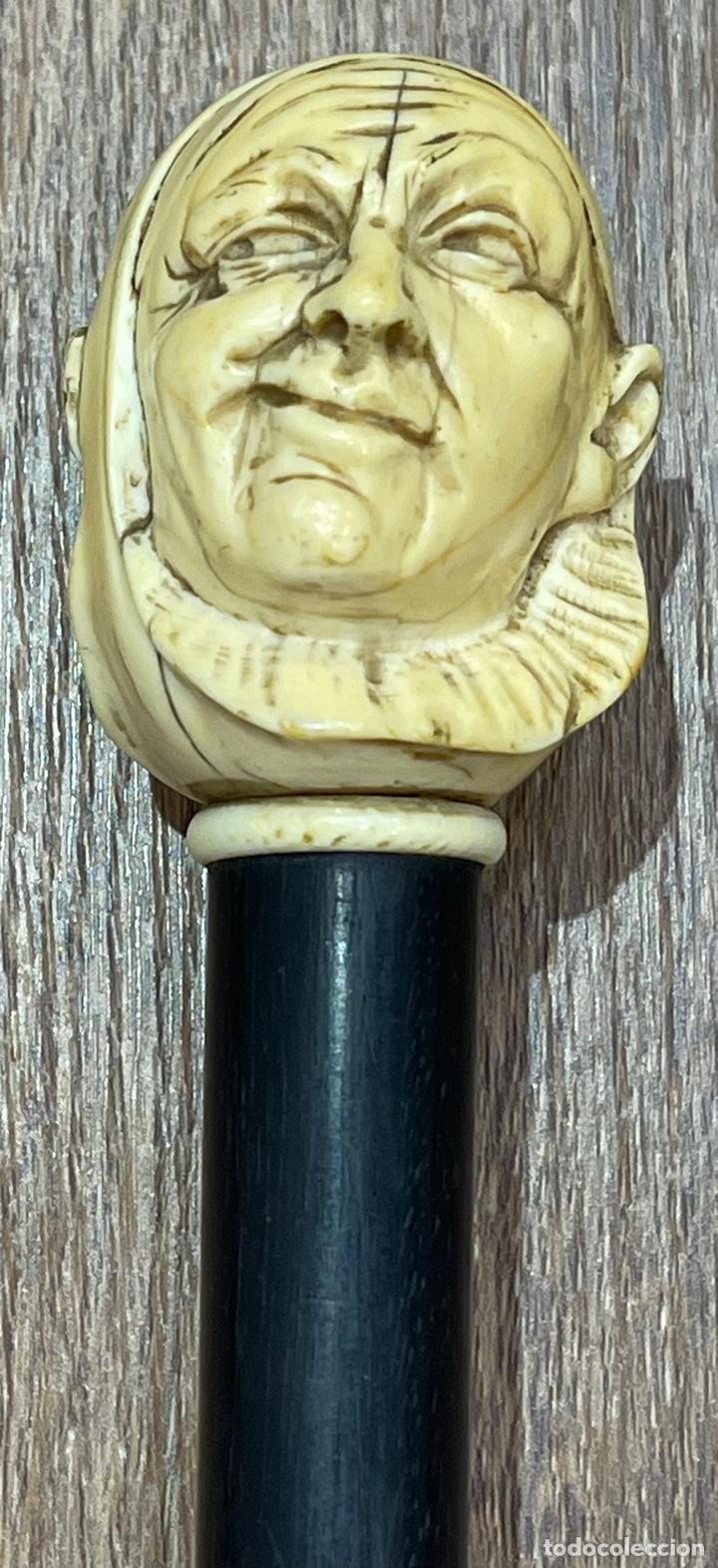 Antigüedades: Extraordinario bastón antiguo, con mango en marfil tallado, por gran maestro - Foto 6 - 251651505
