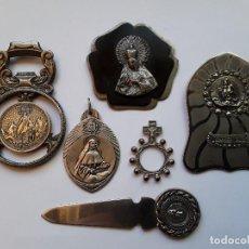Antigüedades: LOTE DE SEIS OBJETOS RELIGIOSOS. ENVÍO GRATUITO CERTIFICADO.. Lote 251713650