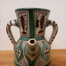 Antigüedades: CERAMICA HERMANOS GORRIZ TERUEL JARRA DE TRES ASAS. Lote 251791925