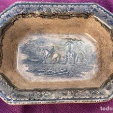 Antigüedades: FUENTE ANTIGUA DE CARTAGENA DE 27 CMS. DE LARGO X 20 DE ANCHO OCHABADA. Lote 251811270
