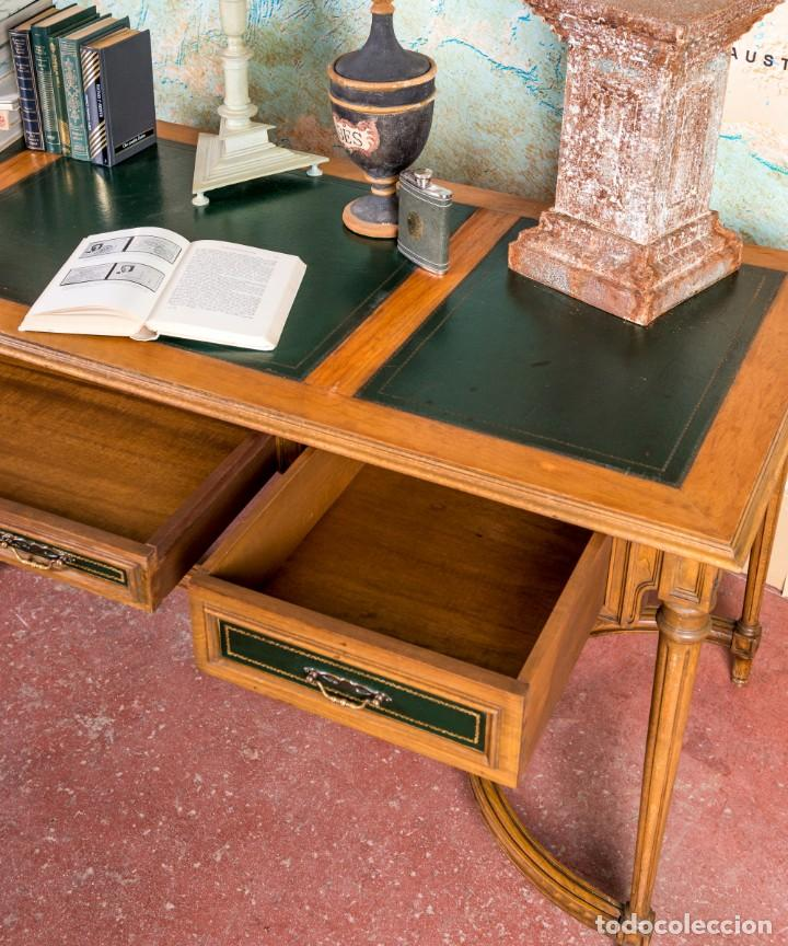 Antigüedades: Mesa Escritorio Antiguo Luis XVI - Foto 3 - 251833730