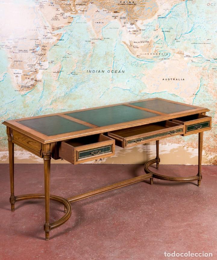 Antigüedades: Mesa Escritorio Antiguo Luis XVI - Foto 6 - 251833730