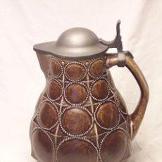 Antiquités: BELLA GRAN JARRA DE CERVEZA CERÁMICA CON TAPA DE ESTAÑO GOEBEL CON CERTIFICADO NUMERADO 27CM. Lote 251834735