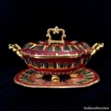 Antigüedades: ANTIGUA SOPERA PINTADA A MANO POR HUBERT BEQUET, QUAREGNON BÉLGICA. AÑOS 30. Lote 251836170