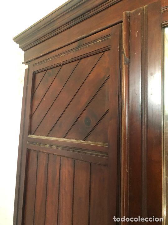 Antigüedades: ESPECTACULAR ARMARIO ALFONSINO DE TRES PUERTAS - MEDIDAS 215X206X55 CM - Foto 6 - 251848020