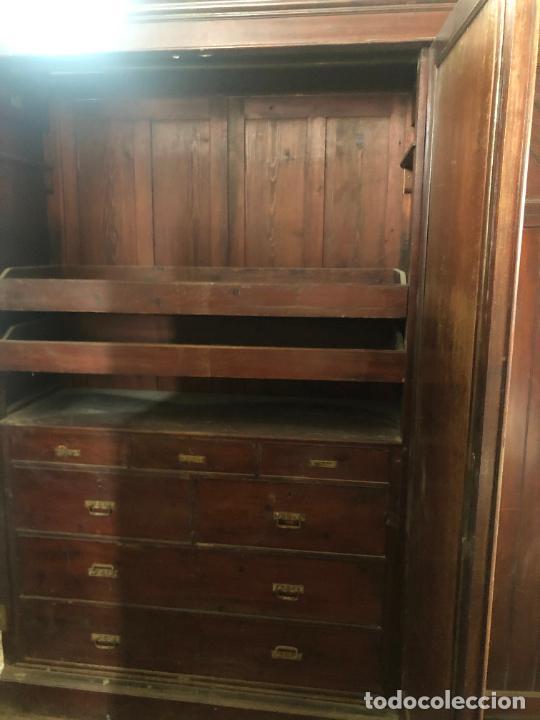 Antigüedades: ESPECTACULAR ARMARIO ALFONSINO DE TRES PUERTAS - MEDIDAS 215X206X55 CM - Foto 11 - 251848020