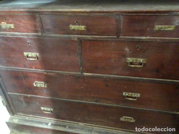 Antigüedades: ESPECTACULAR ARMARIO ALFONSINO DE TRES PUERTAS - MEDIDAS 215X206X55 CM - Foto 13 - 251848020
