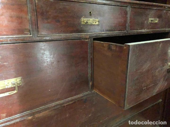 Antigüedades: ESPECTACULAR ARMARIO ALFONSINO DE TRES PUERTAS - MEDIDAS 215X206X55 CM - Foto 14 - 251848020