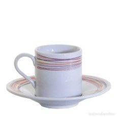 """Antigüedades: JUEGO 2 TAZAS CAFÉ CON PLATO """" VOIE LACTÉE"""" DE CRISTAL DE SEVRES- ARTÍCULO NUEVO. Lote 251868940"""