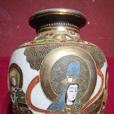 Antigüedades: GRAN JARRON JAPONES / SATSUMA - DIOSA KANNON SELLO ETIQUETA DE CASA MASSANA PAGES Y ROCAFORT 47 CM. Lote 251882370
