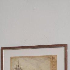 Antigüedades: CUADRO NÁUTICO - MARINA MILITAR - MUSEO NAVAL MADRID. Lote 251908735