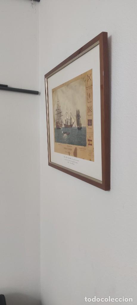 Antigüedades: Cuadro Náutico - Marina Militar - Museo Naval Madrid - Foto 4 - 251908735