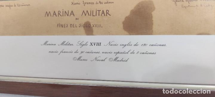 Antigüedades: Cuadro Náutico - Marina Militar - Museo Naval Madrid - Foto 6 - 251908735