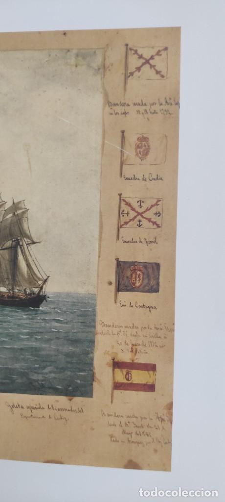 Antigüedades: Cuadro Náutico - Marina Militar - Museo Naval Madrid - Foto 7 - 251908735