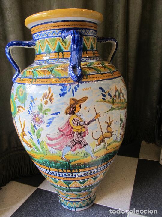 Antigüedades: Enorme jarron ornamental en cerámica de Triana - Ramos Rejano - Siglo XX - Foto 7 - 251959320
