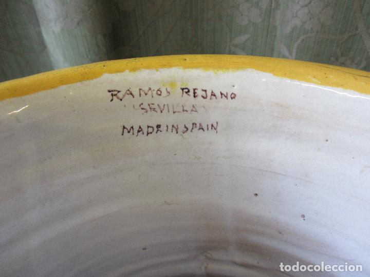 Antigüedades: Enorme jarron ornamental en cerámica de Triana - Ramos Rejano - Siglo XX - Foto 11 - 251959320