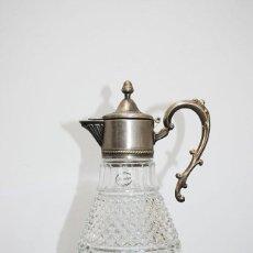 Antigüedades: JARRA DE CRISTAL Y PLATA. Lote 251972005