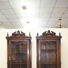 Antigüedades: VITRINAS ANTIGUAS ALFONSINAS SIGLO XIX. Lote 251973075
