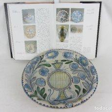 Antigüedades: GRAN PLATO EN CERÁMICA DE MUEL - PRINCIPIOS S. XIX. Lote 251977445