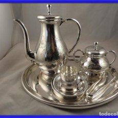 Antigüedades: PRECIOSO JUEGO DE CAFE INDIVIDUAL DE PLATA. Lote 251990455