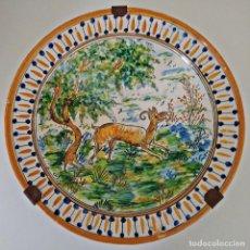 Antigüedades: PLATO DE CERÁMICA DE TALAVERA 36 CM. ESPAÑA.. Lote 251995475