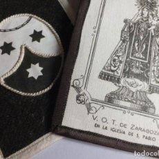 Antigüedades: GRAN ESCAPULARIO V.O.T. DE ZARAGOZA VIRGEN DEL CARMEN IGLESIA DE SAN PABLO ESCUDO CARMELITAS. Lote 252025130