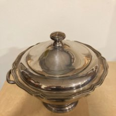 Antigüedades: BONITA SOPERA METAL PLATEADO, MARCADA. Lote 252058025