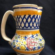 Antiquités: JARRA DE MANISES CON ALGUN DEFECTO RESEÑADO EN FOTOS. Lote 252077480