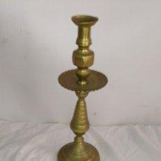 Antiquités: ANTIGUO CANDELABRO BARROCO BRONCE SIGLO XIX. Lote 252079315