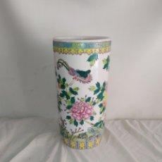 Antiquités: IMPRESIONANTE PARAGÜERO ANTIGUO PORCELANA CHINA. Lote 252079395