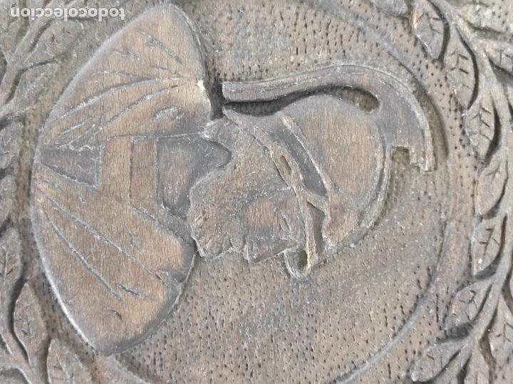 Antigüedades: Preciosa Caja Estilo Renacimiento - Finísima Talla en Madera de Haya, Color Nogal - Foto 11 - 252093600