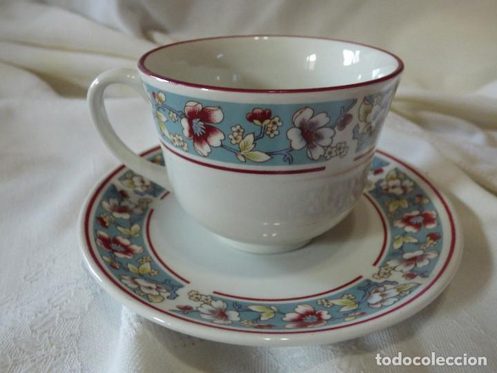 TAZA DE PORCELANA INGLESA. (Antigüedades - Porcelanas y Cerámicas - Inglesa, Bristol y Otros)