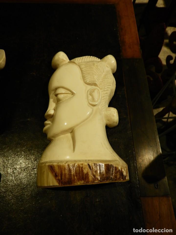 Antigüedades: PRECIOSOS APOYALIBROS CON DOS CARAS DE MARFIL - Foto 5 - 252159215