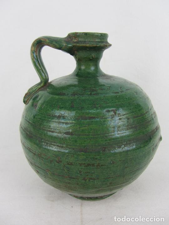 Antigüedades: Perula en cerámica verde de Lucena - s. XVIII-XIX - Foto 2 - 252173275