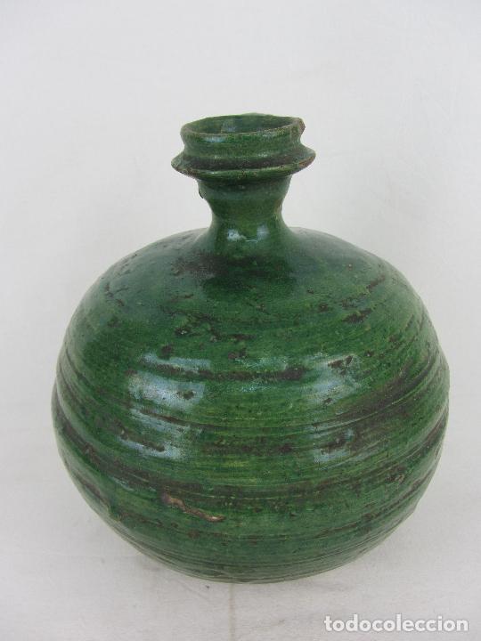 Antigüedades: Perula en cerámica verde de Lucena - s. XVIII-XIX - Foto 3 - 252173275
