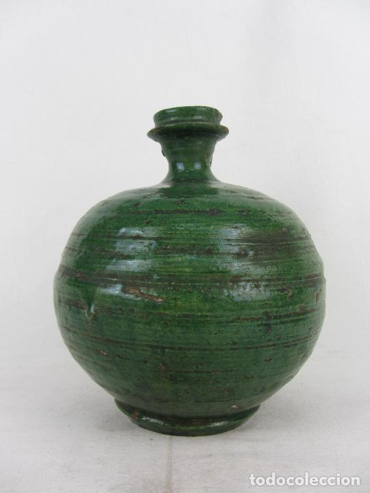 Antigüedades: Perula en cerámica verde de Lucena - s. XVIII-XIX - Foto 4 - 252173275