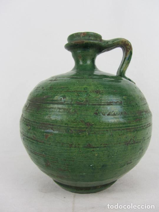 Antigüedades: Perula en cerámica verde de Lucena - s. XVIII-XIX - Foto 5 - 252173275