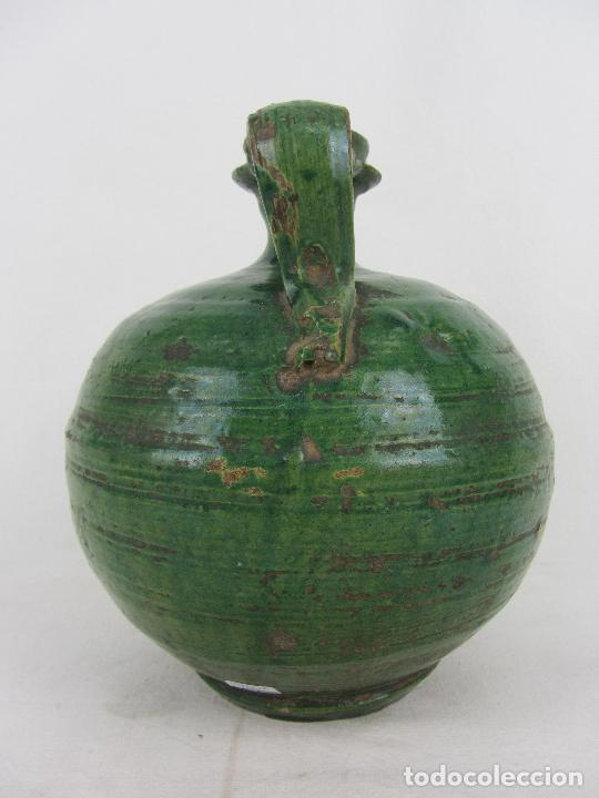 Antigüedades: Perula en cerámica verde de Lucena - s. XVIII-XIX - Foto 6 - 252173275