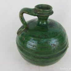 Antigüedades: PERULA EN CERÁMICA VERDE DE LUCENA - S. XVIII-XIX. Lote 252173275