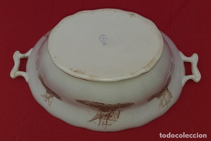 Antigüedades: SOPERA DE CERÁMICA DE OVIEDO, PRINCIPIOS DEL SIGLO XX - Foto 9 - 252176340