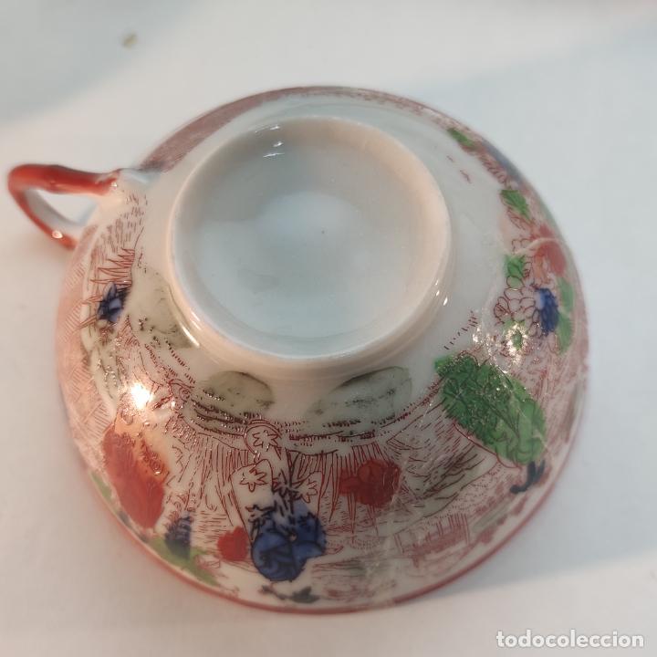 Antigüedades: Espectacular conjunto de piezas de porcelana japonesa Kutani. Enorme fuente firmada de 51 cm. - Foto 8 - 252213700
