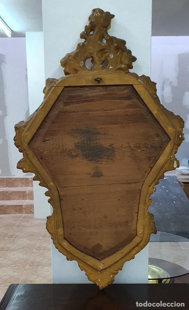 Antigüedades: CORNUCOPIA MADERA DORADA AL ORO FINO - LUIX XV - SIGLO XIX - BUENA PIEZA. - Foto 2 - 252238165