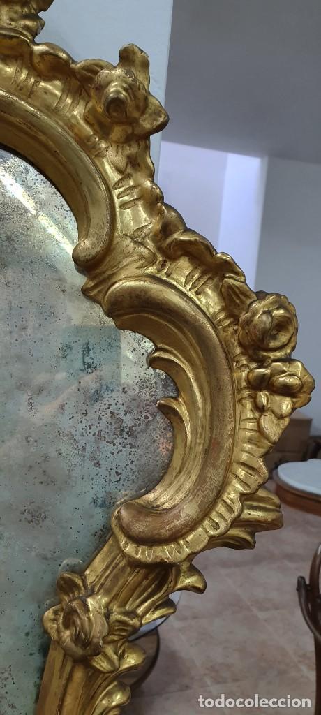 Antigüedades: CORNUCOPIA MADERA DORADA AL ORO FINO - LUIX XV - SIGLO XIX - BUENA PIEZA. - Foto 3 - 252238165