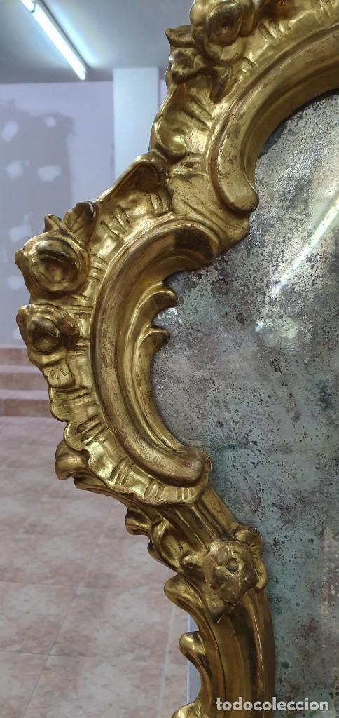 Antigüedades: CORNUCOPIA MADERA DORADA AL ORO FINO - LUIX XV - SIGLO XIX - BUENA PIEZA. - Foto 5 - 252238165