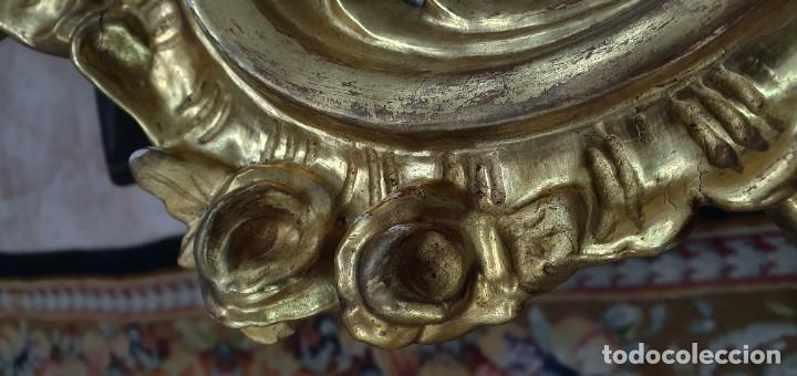 Antigüedades: CORNUCOPIA MADERA DORADA AL ORO FINO - LUIX XV - SIGLO XIX - BUENA PIEZA. - Foto 8 - 252238165