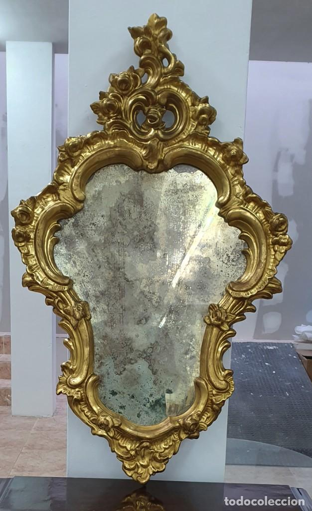Antigüedades: CORNUCOPIA MADERA DORADA AL ORO FINO - LUIX XV - SIGLO XIX - BUENA PIEZA. - Foto 11 - 252238165