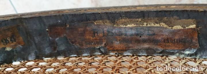 Antigüedades: ANTIGUA TRONA - FISCHEL - THONET - AUTENTICA, CON ETIQUETA - AUSTRIA - SIGLO XIX. - Foto 8 - 252293200