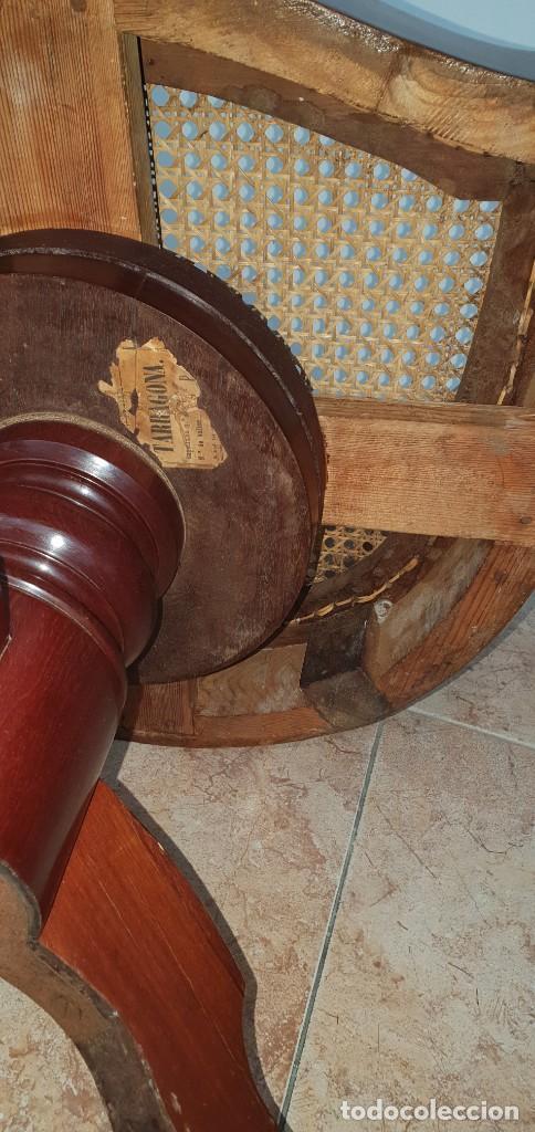 Antigüedades: PRECIOSO SILLÓN DE BARBERO ISABELINO - CAOBA - GIRATORIO - PERFECTO ESTADO. - Foto 7 - 252298445