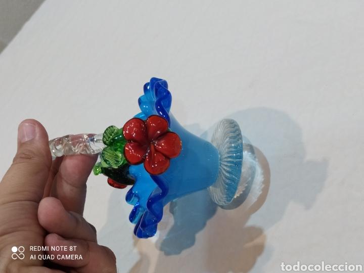 Antigüedades: Antigua cesta de cristal de Murano - Foto 6 - 252327830